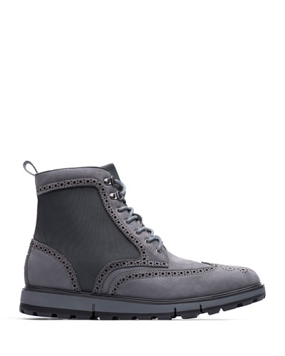 Men's Motion Wing-Tip Boots