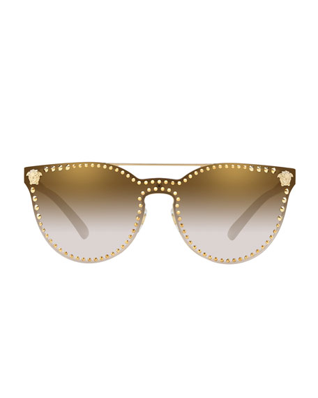 Image 2 of 2: Men's Metal-Studded Sunglasses