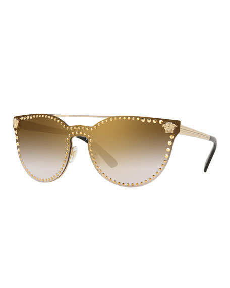 Image 1 of 2: Men's Metal-Studded Sunglasses