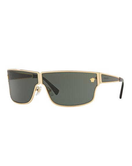 Versace Men's Metal Rectangle Sunglasses