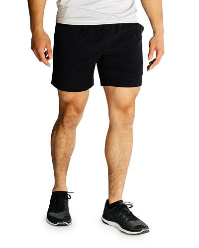 Men's Mako Lined Active Shorts  Black