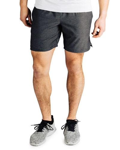 Men's Guru 7 Lined Active Shorts  Black