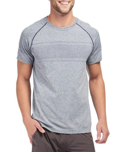 Men's Velocity Seamless Short-Sleeve T-Shirt  Navy Heather