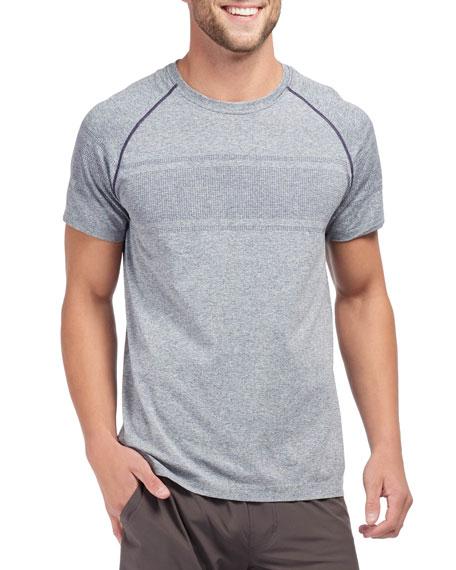 Rhone Men's Velocity Seamless Short-Sleeve T-Shirt, Navy Heather