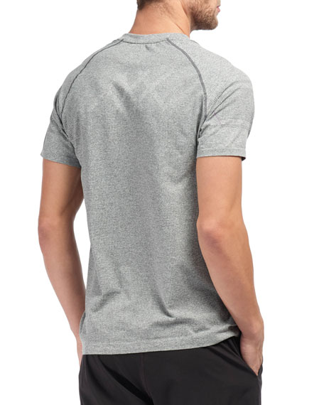 Rhone Men's Velocity Seamless Short-Sleeve T-Shirt, Asphalt Heather