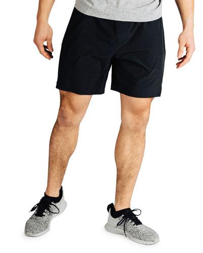 Men's Swift 7 Lined Running Shorts  Black
