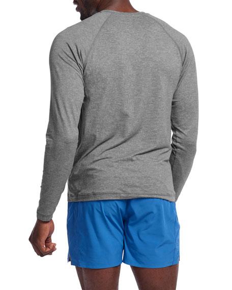 Rhone Men's Reign Heathered Long-Sleeve T-Shirt, Legacy Gray