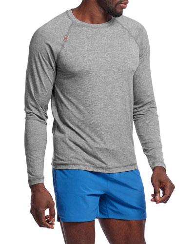 Men's Reign Heathered Long-Sleeve T-Shirt  Legacy Gray