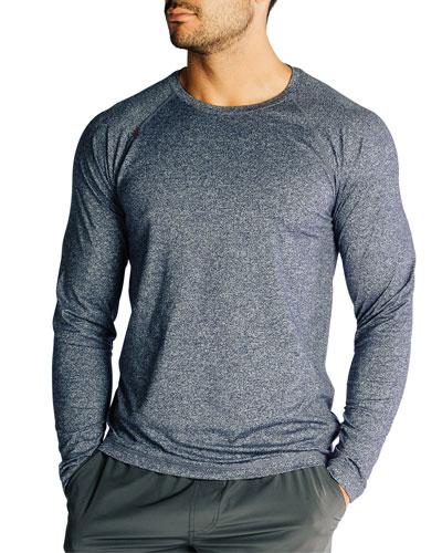 Men's Reign Heathered Long-Sleeve T-Shirt  Midnight