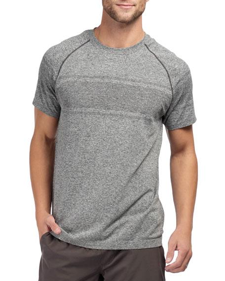 Rhone Men's Velocity Seamless Short-Sleeve T-Shirt, Black Heather