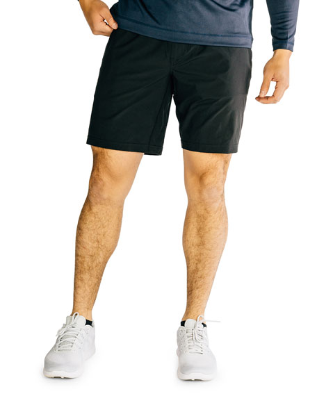"Rhone Men's Mako 9"" Lined Active Shorts, Black"