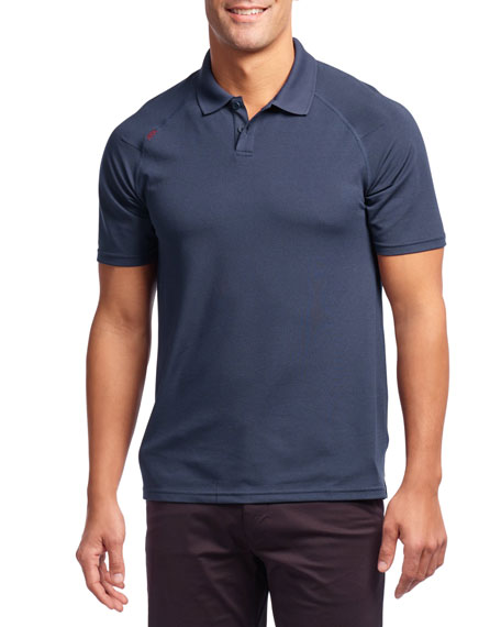Rhone Men's Delta Pique Polo Shirt, Navy