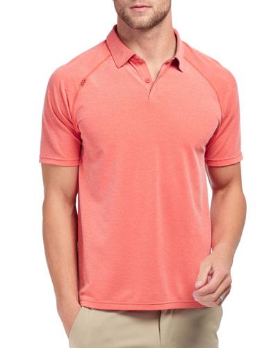 Men's Delta Pique Polo Shirt  Rojo Red