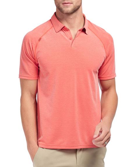Rhone Men's Delta Pique Polo Shirt, Rojo Red