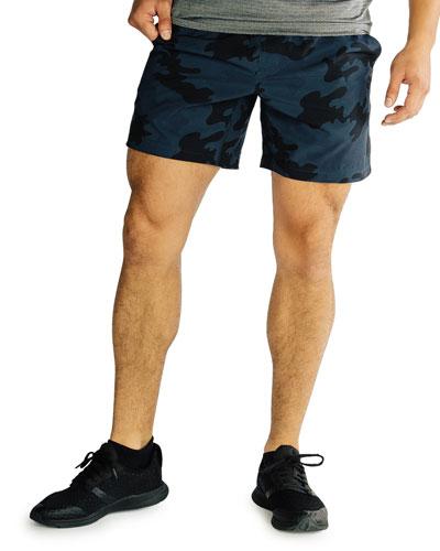 Men's Mako Camo Lined Active Shorts