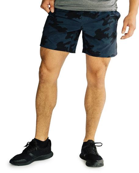 Rhone Men's Mako Camo Lined Active Shorts