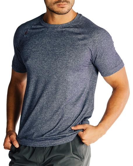 Rhone Men's Reign Heathered T-Shirt, Midnight