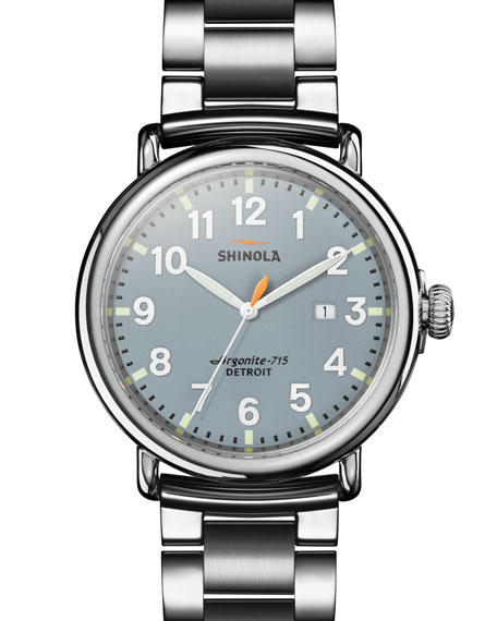 Shinola Men's 47mm Runwell Bracelet Watch