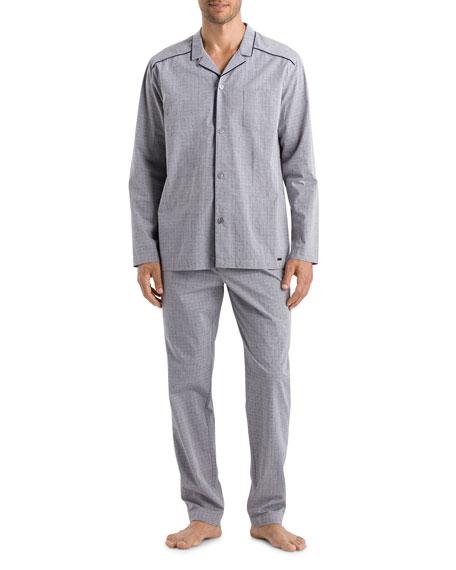 Hanro Men's Theo Woven Pajama Set