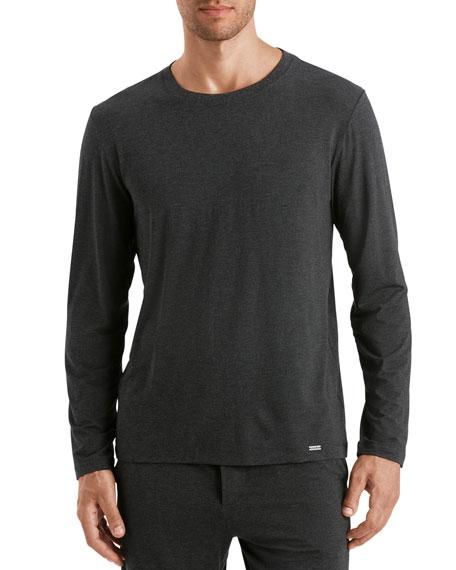 Hanro Men's Casual Long-Sleeve Crew T-Shirt