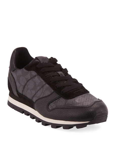 Coach Men's C118 Runner Signature Low-Top Leather Sneakers