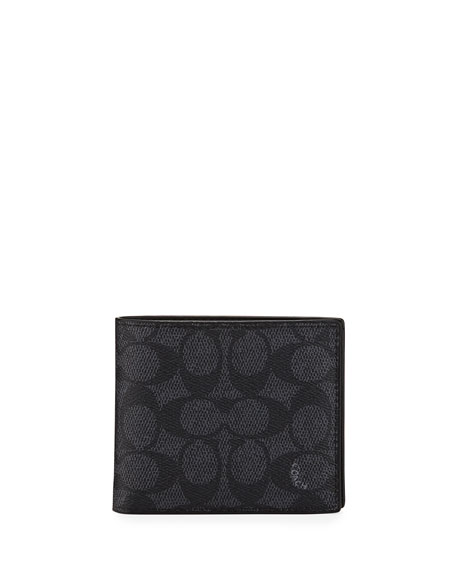 Coach Men's Logo-Print Compact ID Wallet