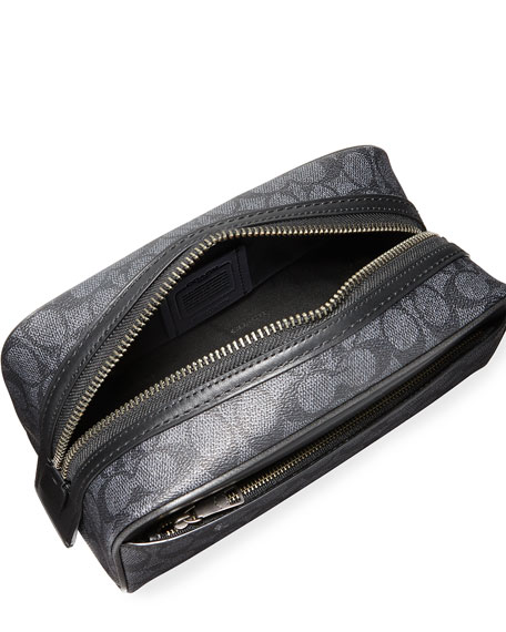 Coach Men's Logo Pattern Toiletry Bag