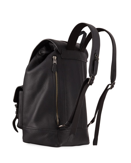 Coach Men's Bleecker Pebbled Leather Backpack
