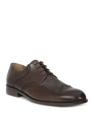 a586d4a46205ca Bruno Magli Men s Salvatore Leather Wing-Tip Lace-Up Shoes