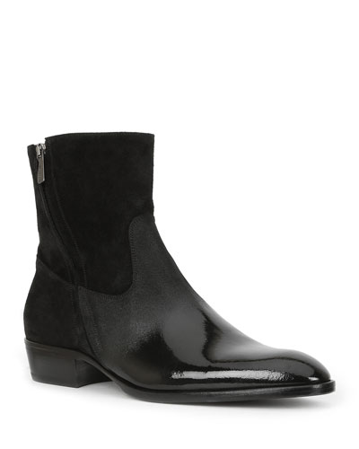 Men's Risoli Leather Zip-Up Ankle Boots