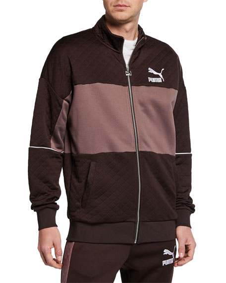 Puma Men's Retro Quilted Panel Track Jacket