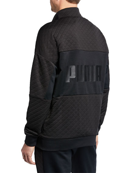 Puma Men's Retro Quilted Zip-Front Track Jacket