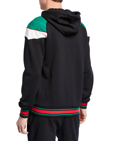 Puma Men's Lux Colorblock Hooded Track Jacket