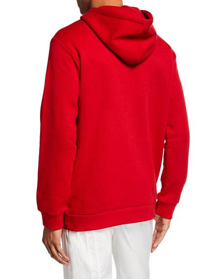 Adidas Men's Trefoil Pullover Hoodie, Red
