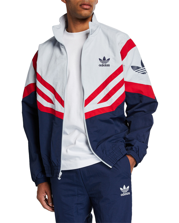 d126dcb21 Adidas Men's Colorblock Woven Track Jacket | Neiman Marcus
