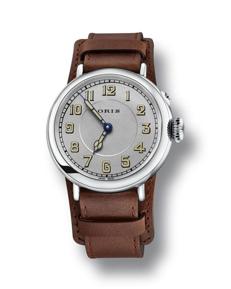 Oris Men's 40mm Big Crown Watch w/ Leather Strap