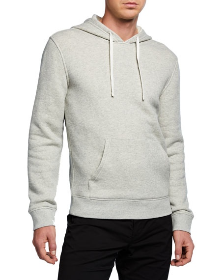 Vince Men's Cotton Solid Hoodie