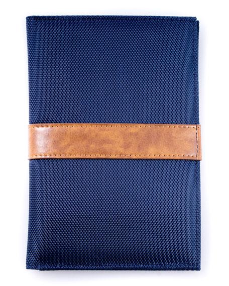 Bey-Berk Ballistic Nylon Technology Travel Pouch, Blue