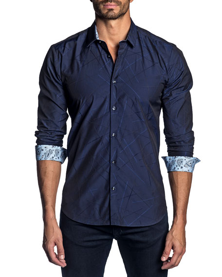 Jared Lang Men's Long-Sleeve Sport Shirt