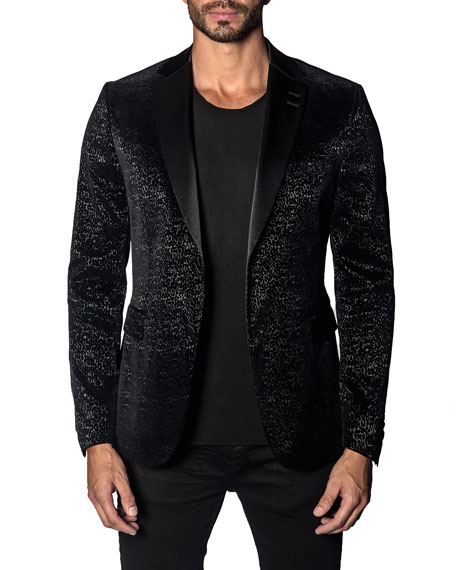 Jared Lang Men's Custom Graphic Single-Button Jacket