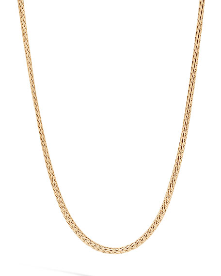 John Hardy Men's Classic Chain 18k Gold Mini Necklace, 2.5mm