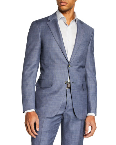 Men's Mixed Solid Two-Piece Suit