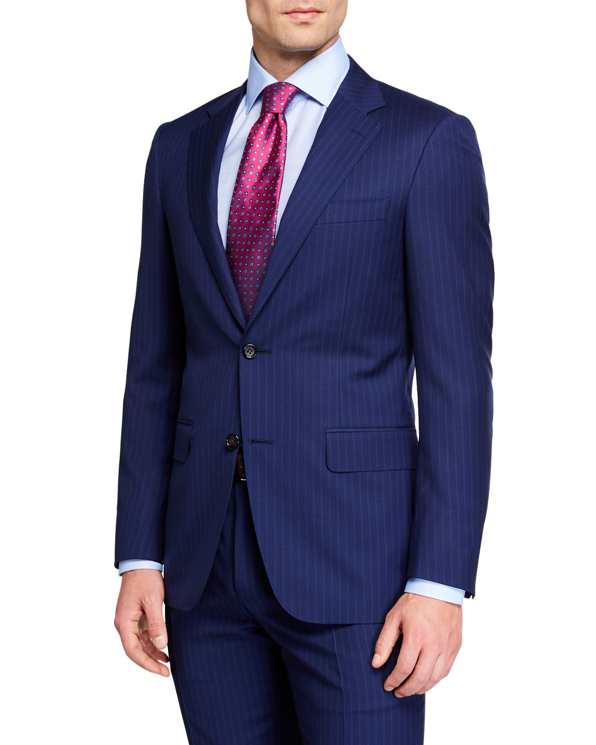Canali Textured Stripe Two-Piece Suit