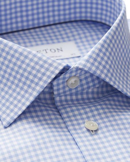 Eton Men's Contemporary-Fit Grid-Pattern Dress Shirt