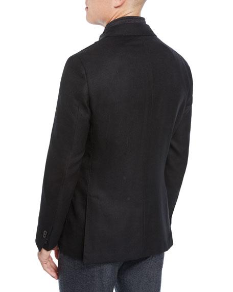 Corneliani Men's Hopsack ID Car Coat