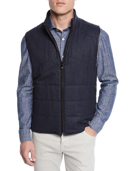 Corneliani Men's Reversible Woolsphere Vest