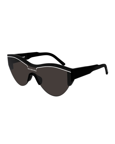 Balenciaga Men's Ski-Construction Mask Sunglasses