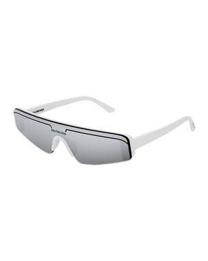 bdf3eec6ff8 Balenciaga Men s Ski-Style Mirrored Sunglasses