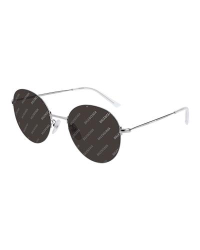 Men's Round Unisex Metal Sunglasses