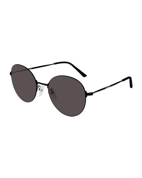 Balenciaga Men's Unisex Metal Round Sunglasses